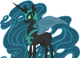 Nightmare Moon in Queen Chrysalis's colors by AdolfWolfed4Life