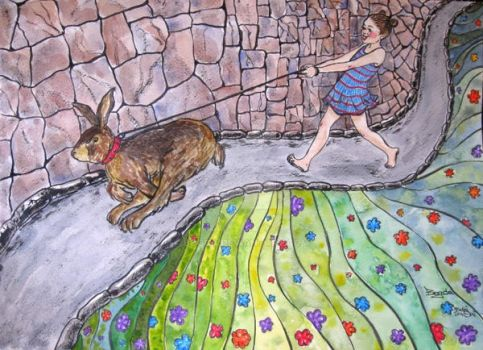Take the Rabbit for a Walk by Bogca
