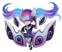 Chibi DJ Sona - Ethereal by RinTheYordle