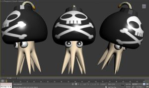 3D High Poly: Bomb-Topus by kigamonsta
