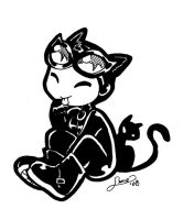 Goggle Catwoman Chiboodle by aichan25