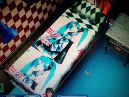 Miku bed by bloodwolf8