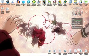 Desktop: Inuyasha and Kagome by satsukiss