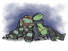 TMNT AU: I'll take first watch by Mosrael-the-Waker