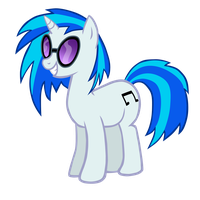Vinyl Scratch Vector by xero11213