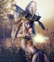 MagicWoman and the light by CindysArt