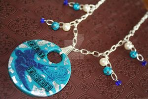 Fly Free Polymer Clay Necklace by VerUniqueCreations