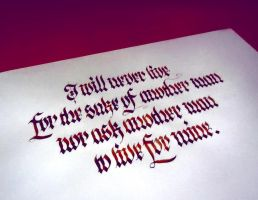 Ayn Rand quote - Calligraphy by WhiteSylver