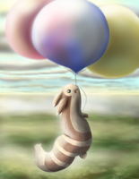 Fly-away Furret by Mewscaper