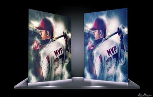 2014 AL MVP : Mike Trout Poster Mockup by NO-LooK-PaSS