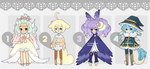 .:CLOSED ADOPTS:. Collab with catfinches by ValyrianAdopts