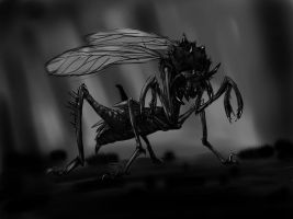 Mutant Insect Sketch by VictorMV