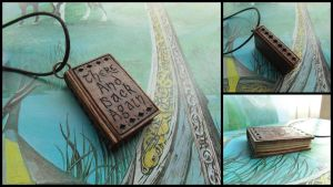 THE HOBBIT MINI BOOK PENDANT by MassoGeppetto