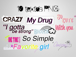 4Pack de textos PNG+ by Discopada