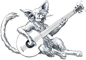 guitar cat by ellemrcs