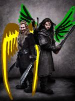 The unexpected winged Fili and Kili by TacoDestroyerAvenger