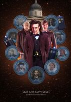 Day of the Doctor by jasonspencerwrenart