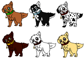 Puppy Adoptables - Batch 1 (OPEN) by ArtsyPancake