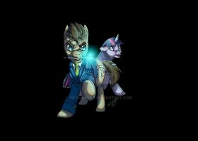 Doctor  Whooves and Twilight by 39-TheWolf
