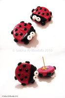 Ladybug Earrings by ChocoAng3l