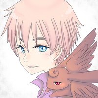 APH - oliver and flying chocolate bunny by Mi-chan4649