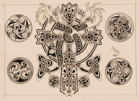 celtic cross by agaricgreywolf