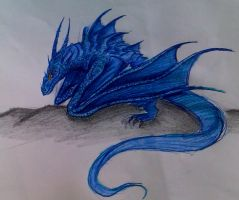 Blue dragon by Roach103