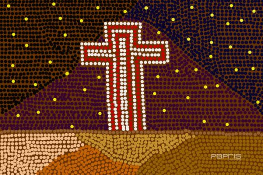 Aboriginal Art-The Cross by thecosyplace