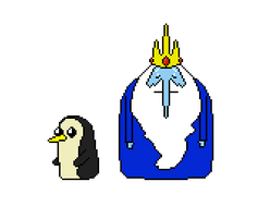 Adventure Time: Ice King and Gunter by Silverhammer37