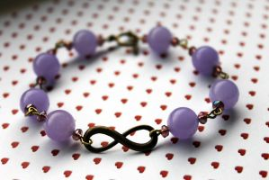 Antique Purple Infinity Bracelet by Clerdy