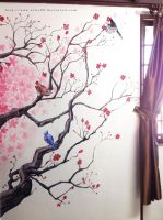 Cherry Blossom wall. by nilec88