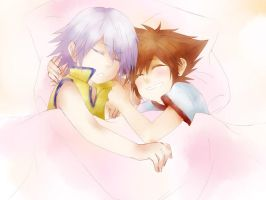 KH: chibi Riku and Sora by yoruven