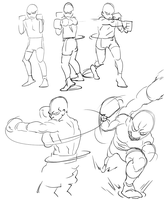 Sketches: Punch Studies by ChuMeng