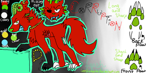 RedShadowRulez Corruption Ref sheet Request by Leeshwheeler