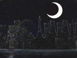 Watching over the City by silver-eyes-blue