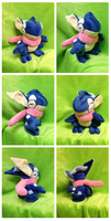 Greninja Plush by Glacdeas