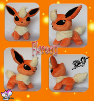 Minky Flareon Plushie :Sold: by Ami-Plushies