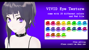 -MMD- VIVID eye texture DL by yokkaulove