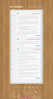 Blog layout: To infinity by cine