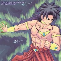 broly ready to fight by kotenka1984