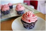 Chocolate Cupcakes with Strawberry Buttercream II by pandrina