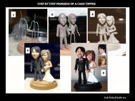 Creating a wedding cake topper by SculptorScotty