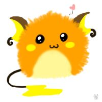 Raichu Puff by Inkblot-Rabbit