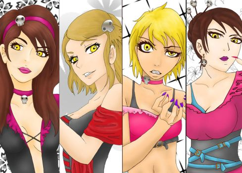 Crazy UA Girls by NeonAnimePrincess