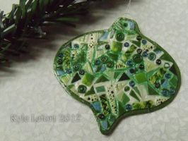 Green Mosaic Ornament by Kyle-Lefort