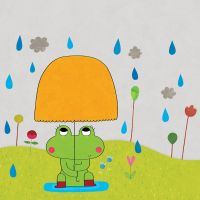 The little frog fears the rain by nicolas-gouny-art