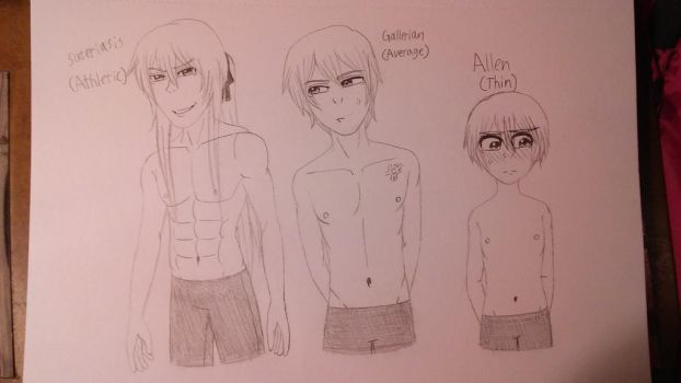 Male body builds of Evillious- Pt. 1 by TomboyJessie13
