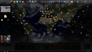 Rainmeter WorldMap by fabularasa