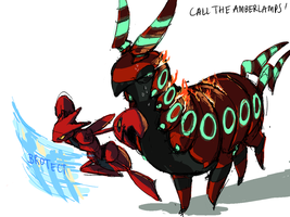 1. Scolipede and Scizor by zhengzhou