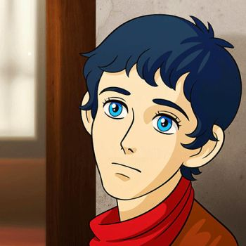 Ghibli-ish Merlin by whimsycatcher